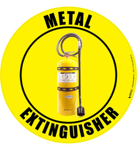 Metal Extinguisher -  Floor Sign