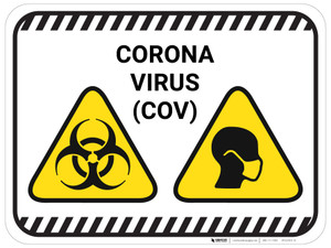 Corona Virus COV with Icons - Floor Sign