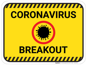 Coronavirus Breakout with Icon - Floor Sign