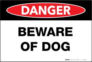 Beware of Dog - Wall Sign