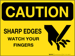 Sharp Edges - Wall Sign