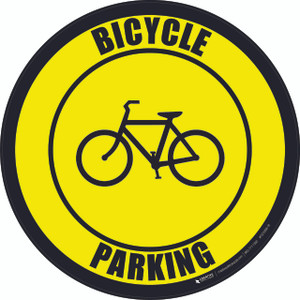 Bicycle Parking -  Floor Sign