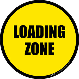 Loading Zone -  Floor Sign