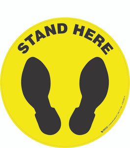 Stand Here -  Floor Sign