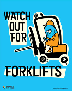 Watch Out for Forklifts - Poster
