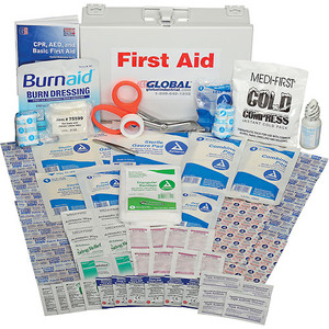 First Aid Kit: Metal Case/ANSI Approved