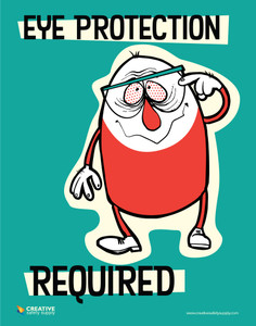 Eye Protection Required - Poster