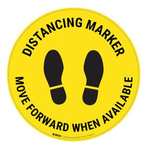 Distancing Marker - Yellow - Floor Sign