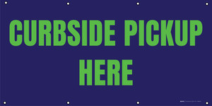 Curbside Pickup Here - Green/Blue - Banner