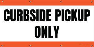 Curbside Pickup Only - Orange - Banner