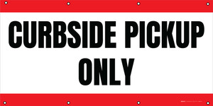 Curbside Pickup Only - Red - Banner