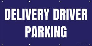 Delivery Driver Parking - Dark Blue - Banner
