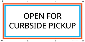 Open For Curbside Pickup - Banner