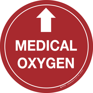 Medical Oxygen (Arrow Up) - Floor Signs