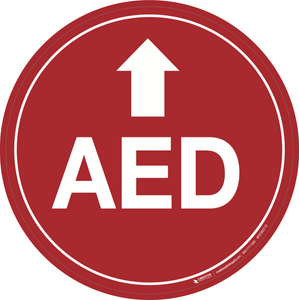 AED (Arrow Up) - Floor Signs
