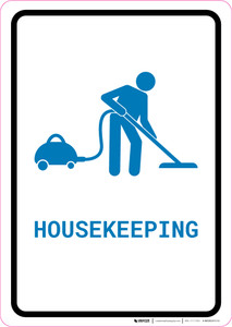 Housekeeping with Icon Portrait v2 - Wall Sign
