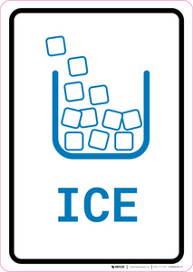 Ice with Icon Portrait v2 - Wall Sign