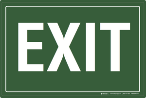 Exit (Green) - Floor Sign