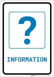 Information with Question Mark Portrait v2 - Wall Sign