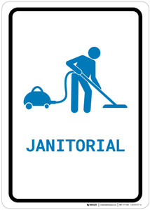 Janitorial with Icon Portrait v2 - Wall Sign