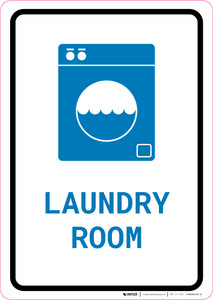 Laundry Room with Icon Portrait v2 - Wall Sign