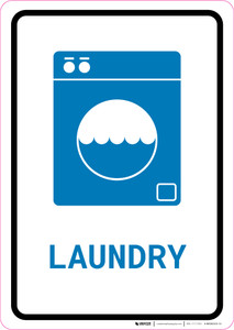 Laundry with Icon Portrait v2 - Wall Sign