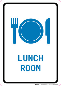 Lunch Room with Icon Portrait v2 - Wall Sign