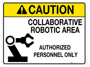 Caution: Collaborative Robotic Area - Wall Sign