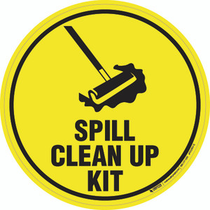 Spill Clean Up Kit - Floor Sign
