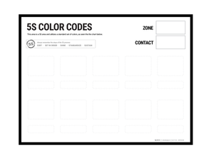 5S Color Code Wall Chart