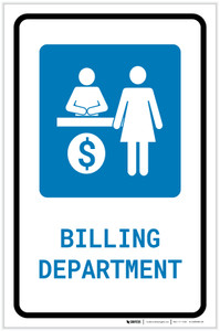 Billing Department with Icon Portrait - Label