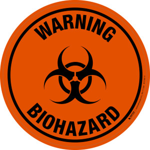 Warning: Biohazard - Floor Sign