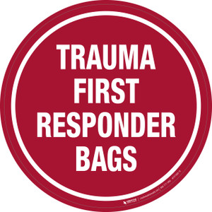 Trauma First Responder Bags - Floor Sign