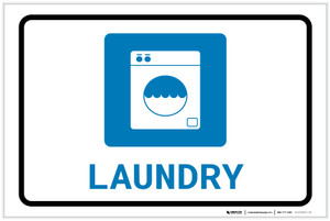 Laundry with Icon Landscape - Label