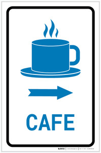 Cafe Right Arrow with Icon Portrait v2 - Label