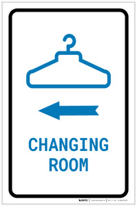 Changing Room Left Arrow with Icon Portrait v2 - Label