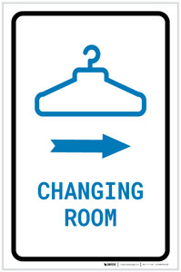 Changing Room Right Arrow with Icon Portrait v2 - Label