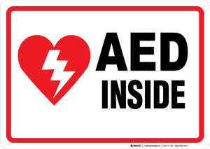 AED - Inside: Wall Sign