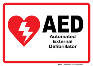 AED (Automated External Defibrillator) - Wall Sign
