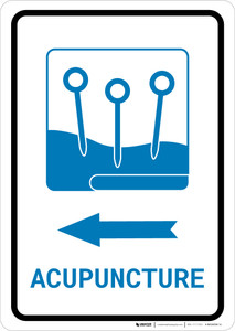 Acupuncture Left Arrow with Icon Portrait v2 - Wall Sign