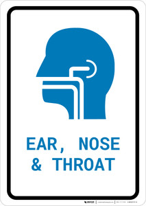Ears, Nose, and Throat (ENT) with Icon Portrait v2 - Wall Sign