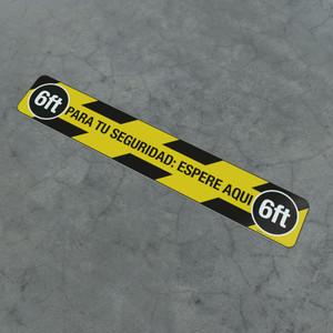 Para Tu Seguridad: Espere Aqui 6ft - Social Distancing Strip