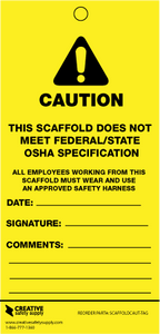 Scaffold: Caution Tags