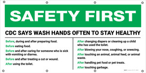 CDC Says Wash Hands Often To Stay Healthy - Banner