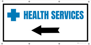 Health Services Left Arrow with Icon - Banner