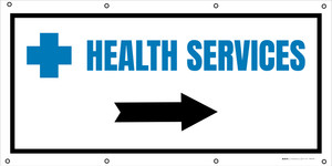 Health Services Right Arrow with Icon - Banner