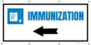 Immunization Left Arrow with Icon - Banner