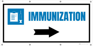 Immunization Right Arrow with Icon - Banner