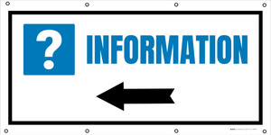 Information Left with Arrow - Banner