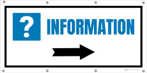 Information Right with Arrow - Banner